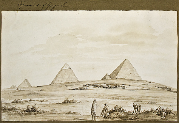 Hoskins MSS 1.139, © Griffith Institute, University of Oxford. Pyramid-field of Gîza, George Alexander Hoskins