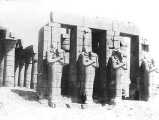 Lekegian, G., The Theban west bank, the Ramesseum (c.1890