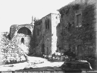 Fiorillo, L., Jerusalem (c.1880 [Before the building of the new complex of the Muristan.]) (Enlarged image size=72Kb)