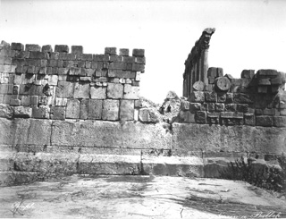 Bonfils, F., Baalbek (c.1870  [Estimated date.]) (Enlarged image size=85Kb)