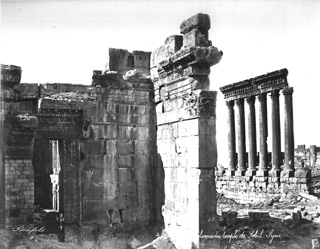 Bonfils, F., Baalbek (c.1870  [Estimated date.]) (Enlarged image size=81Kb)