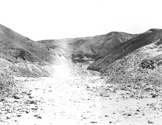 not known, The Theban west bank, the Valley of the Kings (c.1890