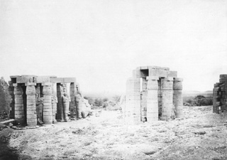 not known, The Theban west bank, the Ramesseum (c.1880