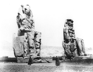 Zangaki, G., The Theban west bank, the Memnon Colossi (c.1890