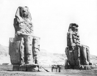 Beato, A., The Theban west bank, the Memnon Colossi (c.1900