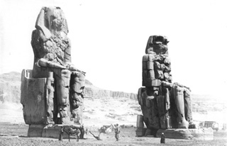 not known, The Theban west bank, the Memnon Colossi (c.1890