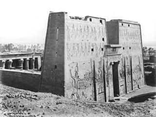 Sebah, J. P., Edfu (before 1874