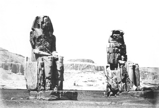 Beato, A., The Theban west bank, the Memnon Colossi (c.1890