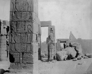 Beato, A., The Theban west bank, the Ramesseum (c.1890 [Estimated date.]) (Enlarged image size=62Kb)
