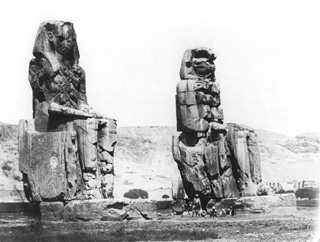 Hammerschmidt, W., The Theban west bank, the Memnon Colossi (1857-9