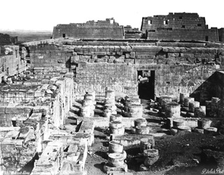 Sebah, J. P., The Theban west bank, Medinet Habu (before 1874