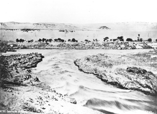 Sebah, J. P., The first Nile cataract (before 1876