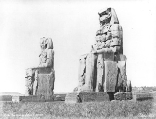 Sebah, J. P., The Theban west bank, the Memnon Colossi (c.1875
