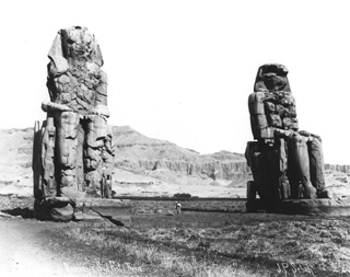Sebah, J. P., The Theban west bank, the Memnon Colossi (c.1895