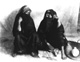 Click to see details of two veiled women seated.