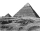 Click to see details of the pyramid of khephren from the east,...