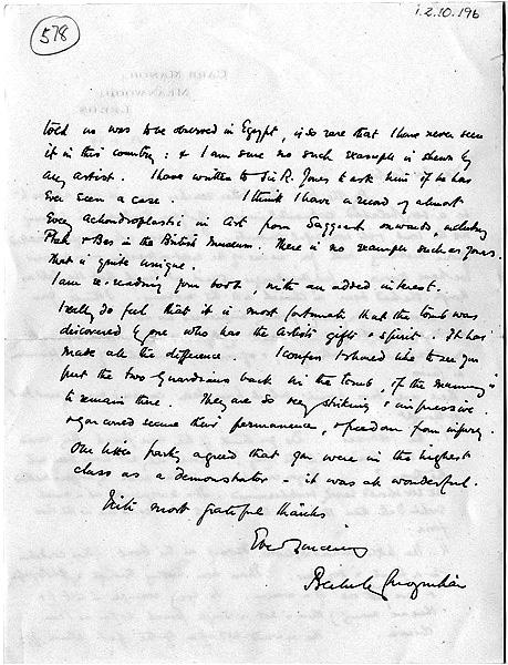 Howard Carter\'s notes