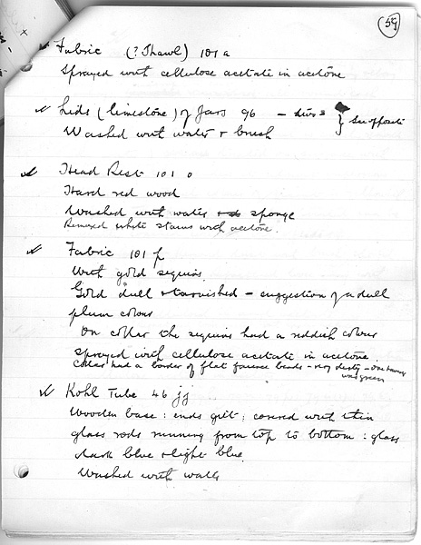 Alfred Lucas S Notes On Conservation Of Tutankhamun S Objects