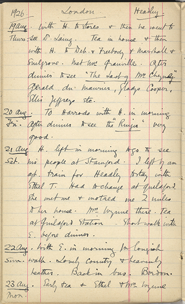 The Griffith Institute - Minnie C  Burton's diary in the Griffith